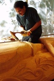 Israel Shotridge is a Master Carver of Native American Totem Poles