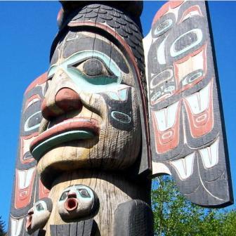 Ketchikan Alaska has outstanding Native Alaskan Art & Totem Poles
