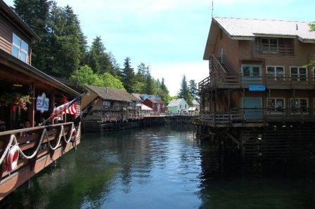 Another view of Creek Street in Ketchikan Alaska