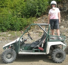 The TOMCAR vehicle used in the Adventure Kart Tour in Ketchikan
