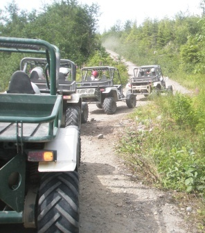 Follow the leader on Adventure Kart Tour, Family Friendly Attractions