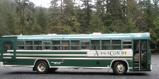 The bus that took us out to the Adventure Karts tour in Ketchikan