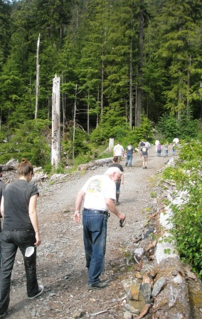 A short hike on the Adventure Kart tour in Ketchikan