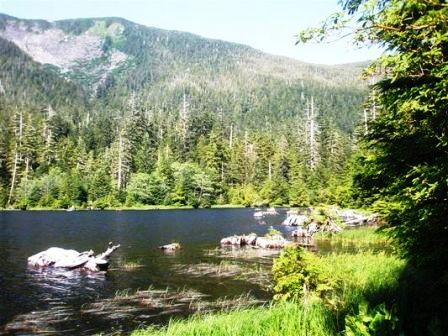 Carlanna Lake while on the Alaska Hummer Adventures tour in Ketchikan