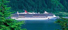 Carnival Spirit cruise ship on a Ketchikan Cruise