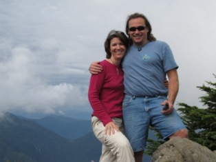 The authors of this website at the top of the Deer Mountain Trail in Ketchikan