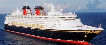 The Disney Wonder Cruise ship on a Disney Alaska family cruise