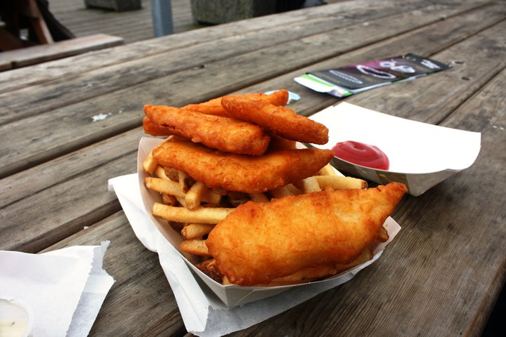 The best fish and chips restaurant in Ketchikan is at Alaskan Surf