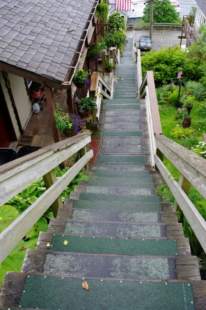 Stairs are a major part of Ketchikan Real Estate!