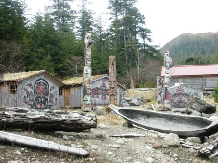 Potlatch Park, a favorite Ketchikan Totem Pole Park, has gorgeous Native American Totem Poles