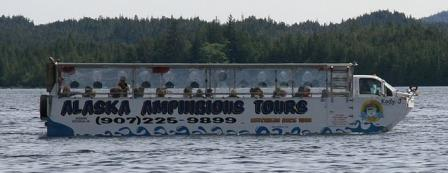 The Ketchikan Duck Tour boat in the water