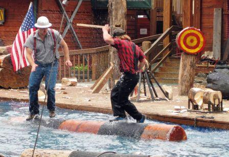 Logrolling at the Ketchikan Lumberjack Show