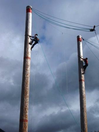 Pole Climbing at the Ketchikan Lumberjack Show