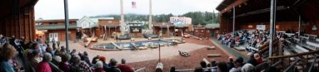 The stands from the Ketchikan Lumberjack Show
