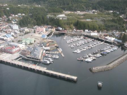 Ketchikan city view from our floatplane