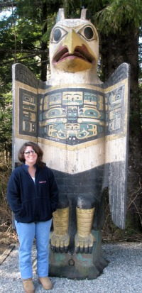 The Eagle Grave Marker Totem Pole at Totem Bight