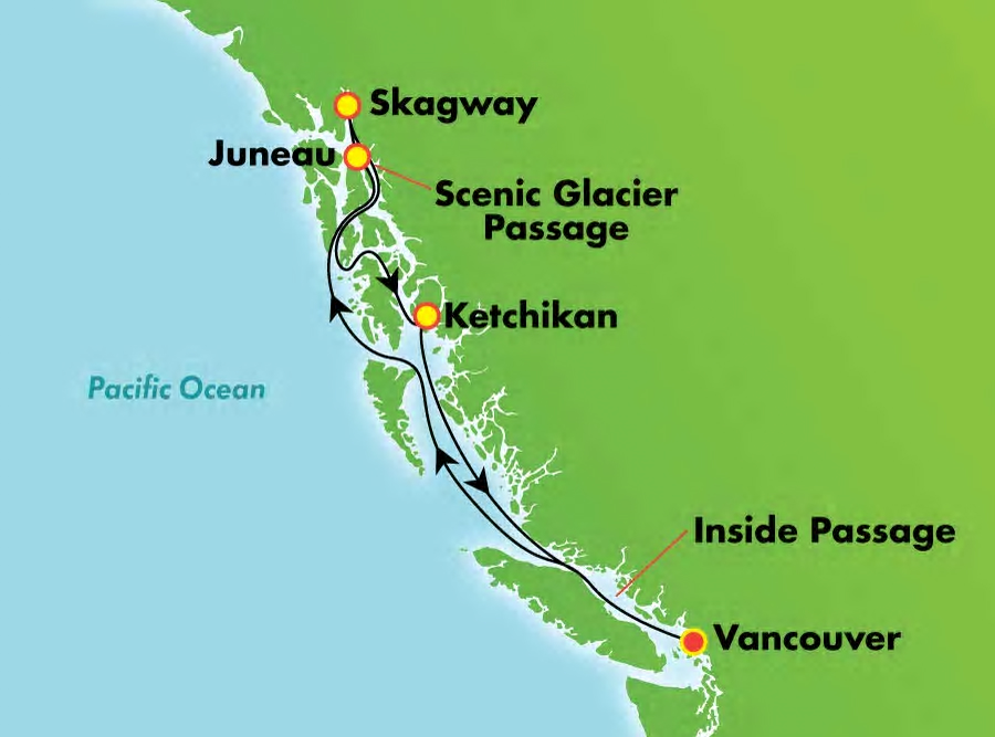 7-Day Holkham Bay NCL Alaska cruise on the NCL Jewel
