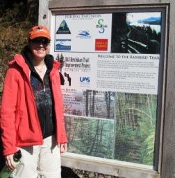 The University of Alaska Southeast Ketchikan Rainbird Trailhead sign