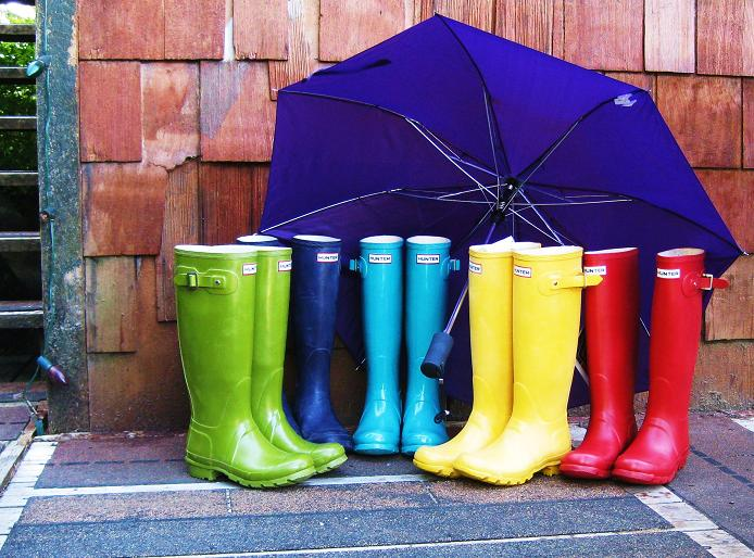 Ketchikan Alaska weather often requires rainboots!
