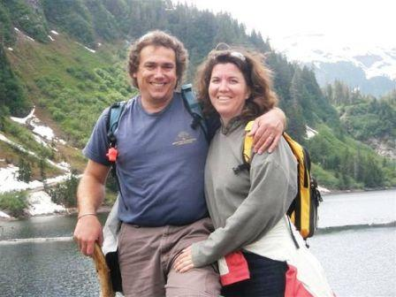 Michael and Rene at Silvis Lake in Ketchikan on the Alaska Hummer Adventure tour