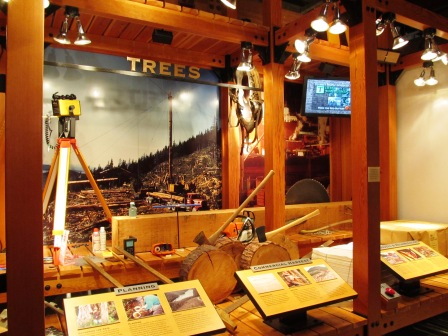 Inside the Southeast Alaska Discovery Center in Ketchikan Alaska