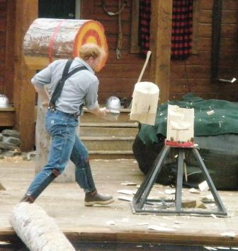 Speed Chopping at the Ketchikan Lumberjack Show