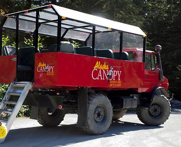 The Unimog used to get us to the top of the Ziplines in Ketchikan Alaska
