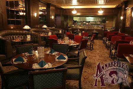 The formal dining area of Annabelles Restaurant in the Gilmore Hotel Ketchikan, AK