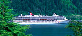 Carnival Spirit cruise ship on a Ketchikan Cruise