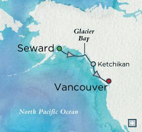 Crystal Cruise Alaska 5 Day Alaska cruise itinerary