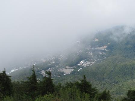 The same view while fogged in on the Deer Mountain Trail in Ketchikan
