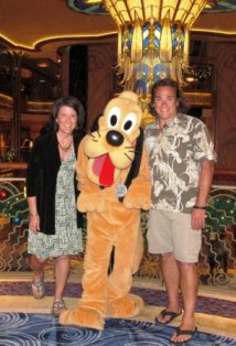 Disney Characters roam the Cruise Ship on a Disney Alaska Cruise