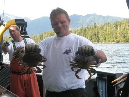 Dungeness Crab caught on the Bering Sea Crab Fishermans tour in Ketchikan