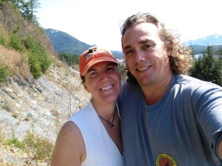 Your Experience Ketchikan authors hiking the Rainbird Trail in Ketchikan
