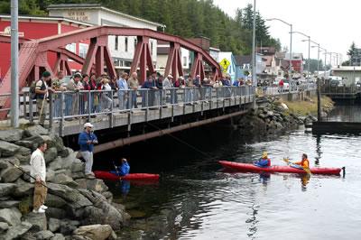 The Stedman Bridge in Ketchikan Alaska on Creek Street