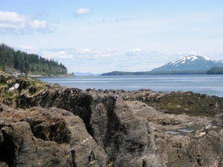The beaches & mountains in Ketchikan Alaska