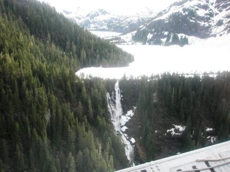 Big Goat Lake in the Misty Fjords on a sightseeing flight tour from Ketchikan