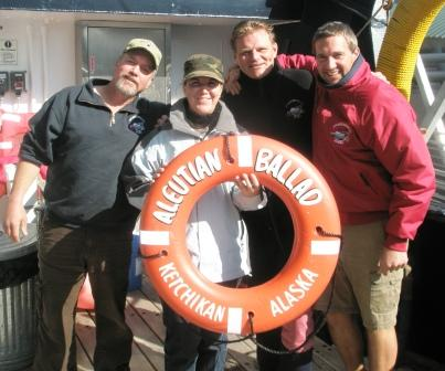 Rene with the crew of the Bering Sea Crab Fishermans Tour