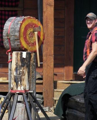 Axe Throwing at the Ketchikan Lumberjack Show