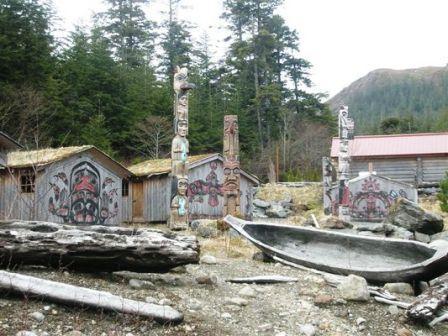 Potlach Park Totem Park during our Alaska Hummer Adventure tour