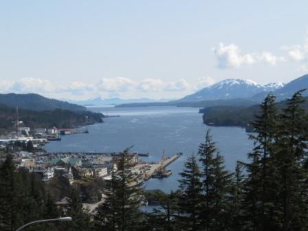 View of Ketchikan from the Rainbird Trail in Ketchikan Alaska