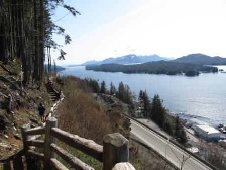 You'll see spectacular city & island views on the Rainbird Trail in Ketchikan