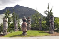 One Alaska Native Art piece, the Chief Kyan totem pole in Ketchikan Alaska