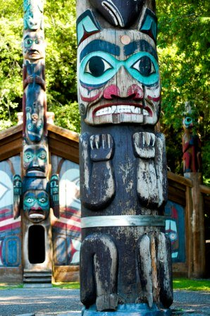 Ketchikan Totem Pole Park at Totem Bight