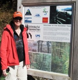 The University of Alaska Southeast Ketchikan Rainbird Trailhead sign