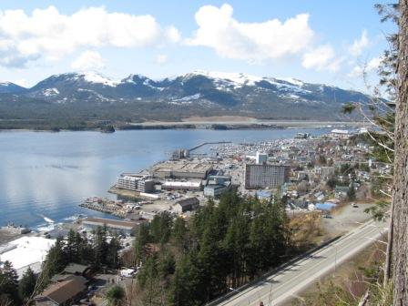 The Rainbird Trail in Ketchikan Alaska has gorgeous city views!